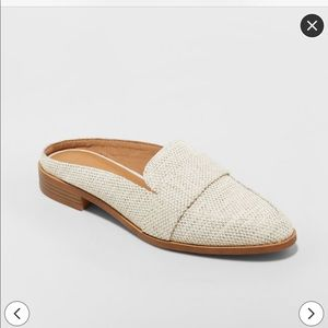 Backless loafer mules
